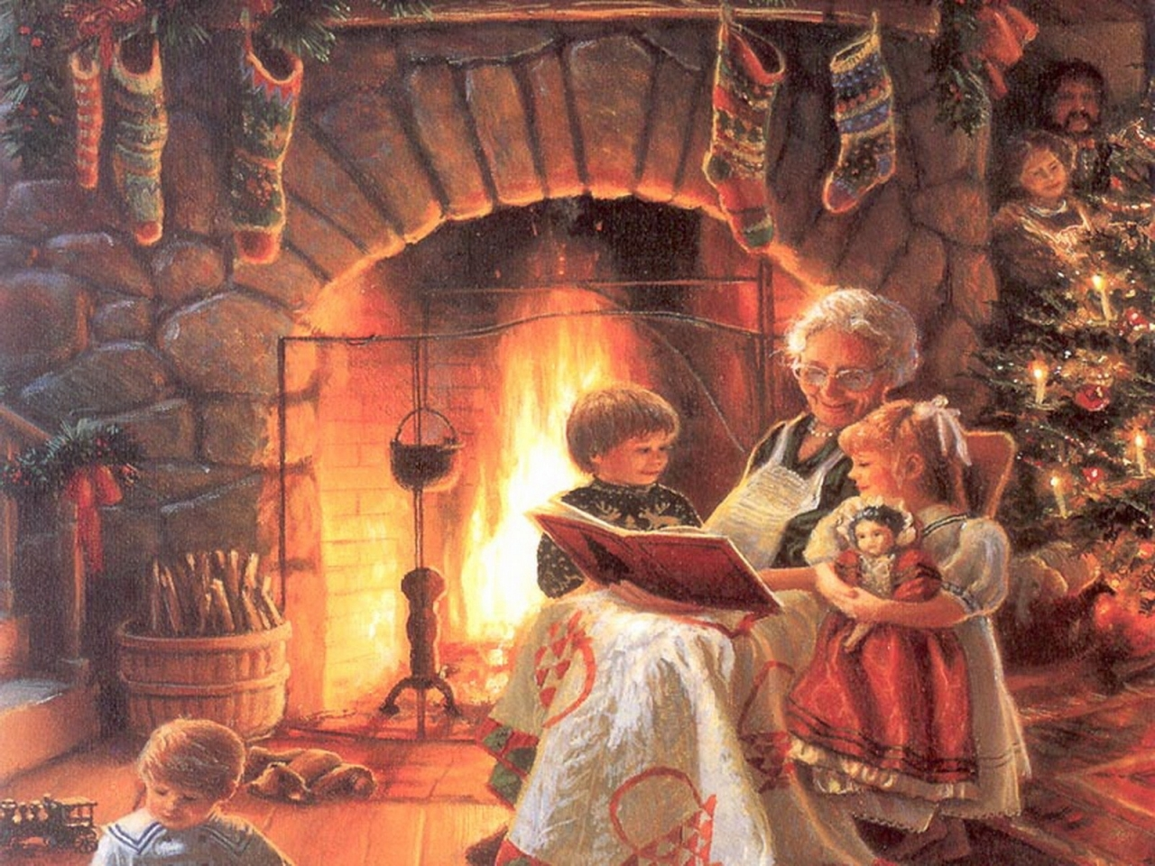 Дети слушают сказку картинки